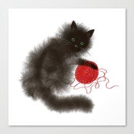 Mischievous cat Canvas Print
