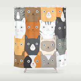 Herded Cats Shower Curtain