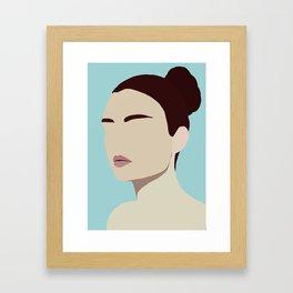 Amelia - modern minimal portrait Framed Art Print