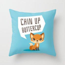 Buttercup Fox Throw Pillow