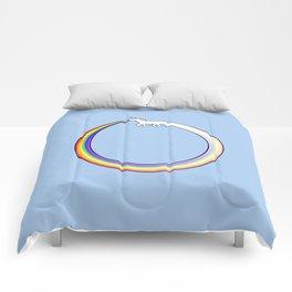 Ouroboros Unicorn Rainbow Vomit Comforters