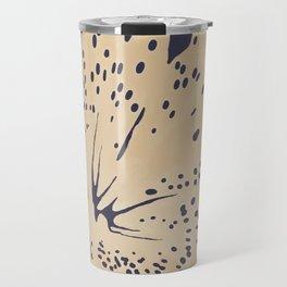Soybean lily on eclipse blue Travel Mug
