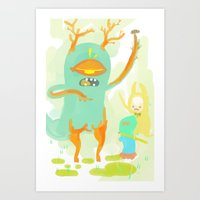 cookie Art Prints featuring cookie by kuri