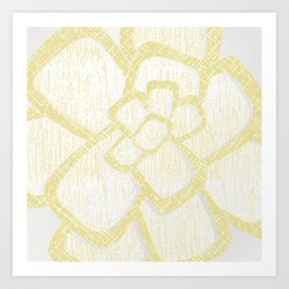 Brom yellow Art Print