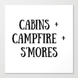 Cabins Campfire Smores Canvas Print