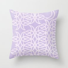 Purple Lunar Throw Pillow