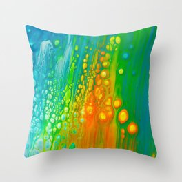 Aqua orange Throw Pillow