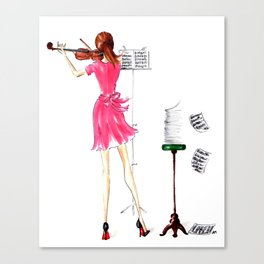 The Violin Player - Fashion Illustration Canvas Print