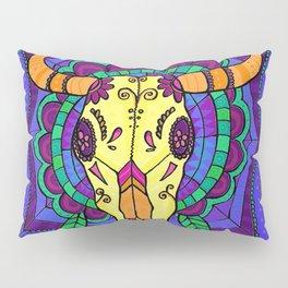 Day Of The Dead Cow Skull #2 Pillow Sham