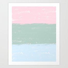 Pastel Blocks Art Print