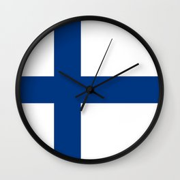 National flag of Finland Wall Clock