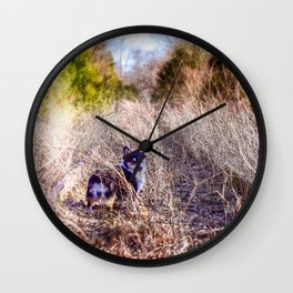 Corgi Crossing Wall Clock