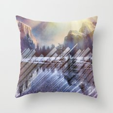 Winter Sun Rays Abstract Nature Throw Pillow
