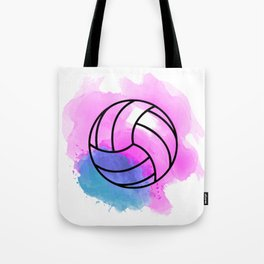 Volleyball Watercolor Tote Bag