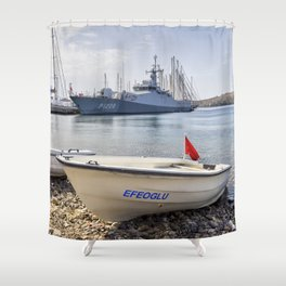 When I Grow Up I Want To Be A Warship Shower Curtain