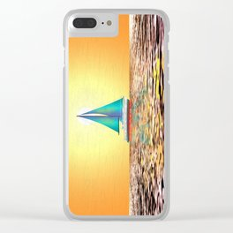 Sailing Away Clear iPhone Case