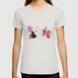Britain to colombia  Quote Art Design Inspirationa T-shirt