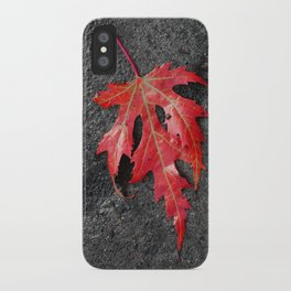 red maple leaf iPhone Case
