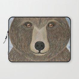 brown bear woodland animal portrait Laptop Sleeve