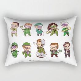 Riddler Chibi Medley Rectangular Pillow