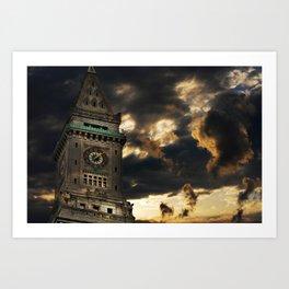 Custom House Clock Tower, Boston MA Art Print