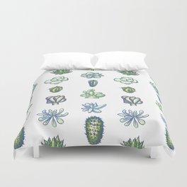 One Dozen Succulents Duvet Cover