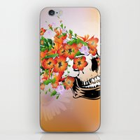 sugar skull iPhone & iPod Skins featuring Sugar skull by nicky2342