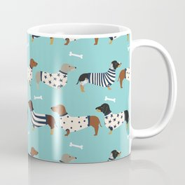 Dachshund sweaters cute gifts for dog lover pet friendly dog breed dachsie doxie dogs Coffee Mug