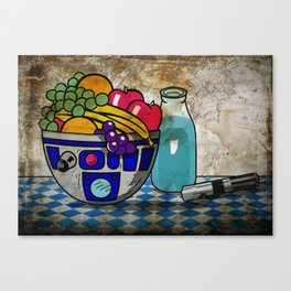 Still Life...with Blue Milk  Canvas Print