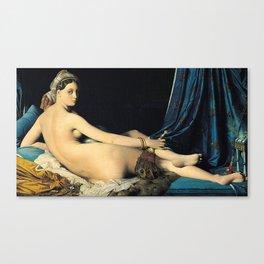 Jean Auguste Dominique Ingres, The Grand Odalisque Canvas Print