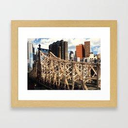 From the Tram - New York Framed Art Print