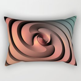 Spiraling One Rectangular Pillow