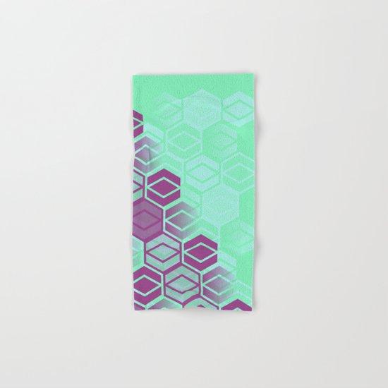 Purple on Mint Hand & Bath Towel