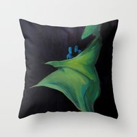 mom Throw Pillows featuring Mom by Lisseau Design Lab