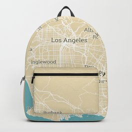 Los Angeles Stylish Functional City Map Backpack