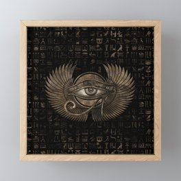 Egyptian Eye of Horus - Wadjet Vintage Gold Framed Mini Art Print