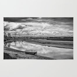 The Boats of Maldon Estuary in Summer Rug