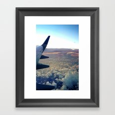 airplane window Framed Art Print