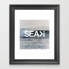 SEA>i Framed Art Print