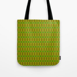 Heliconia Green Gold Stalks Pattern Tote Bag