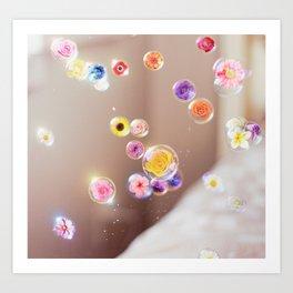 Flower Bubble Art Print