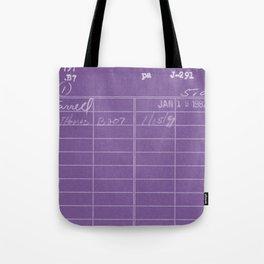Library Card 797 Negative Purple Tote Bag