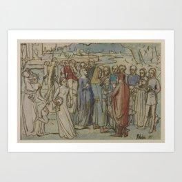 Sir John Everett Millais, Bt 1829–1896   A Baron Numbering his Vassals Art Print