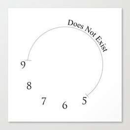 Wall Clock - 9 to 5 Does Not Exist Canvas Print