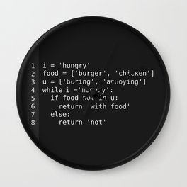 Hungry programmer Wall Clock
