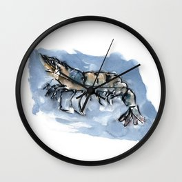 Watery Shrimp Wall Clock