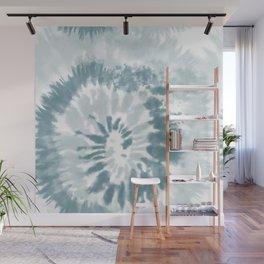 Teal Swirl Tie Dye Wall Mural