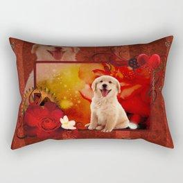 Sweet golden retriever Rectangular Pillow