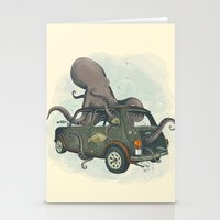 beastie boys Stationery Cards featuring Beastie of the Deep by Clinton Jacobs