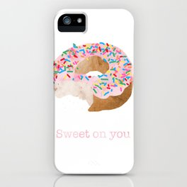 Sweet on You Donut iPhone Case